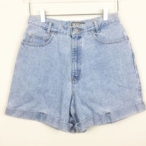 Vintage | Cenza Super High Rise Cuffed Jean Shorts